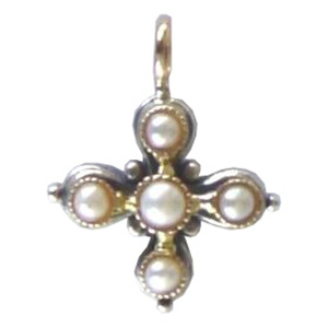 Gerochristo Cross with Pearls