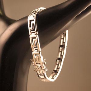 Rhodium Greek Bracelet