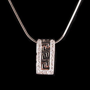 Sterlng Silver-Cz Slide with Sterling Silver Chain